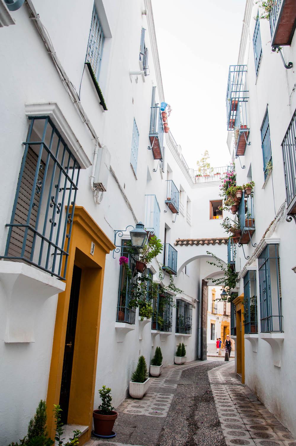 Interior de una de las calles cerradas del casco histórico de Córdoba