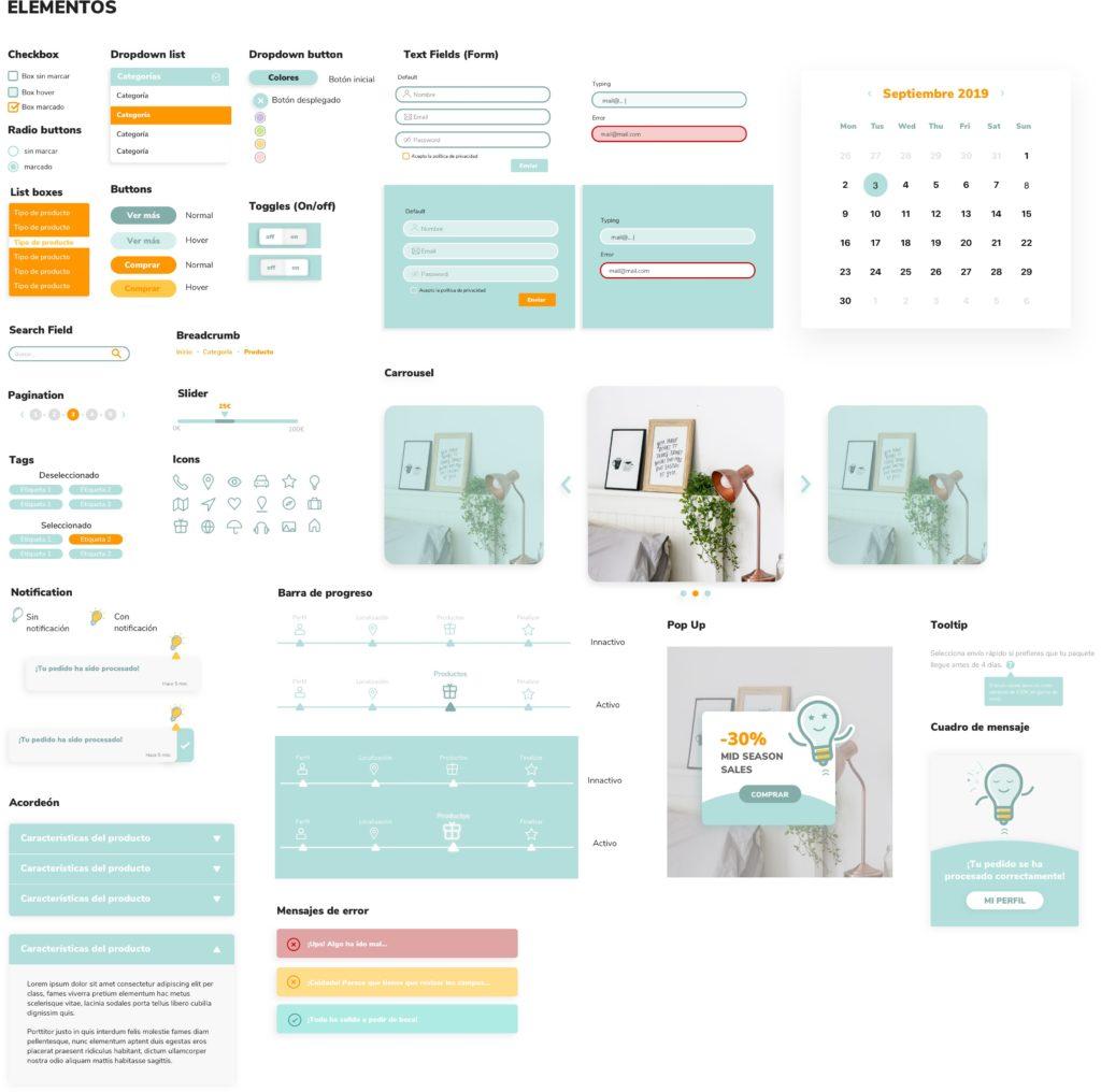 Diseño UI para página de producto de un ecommerce